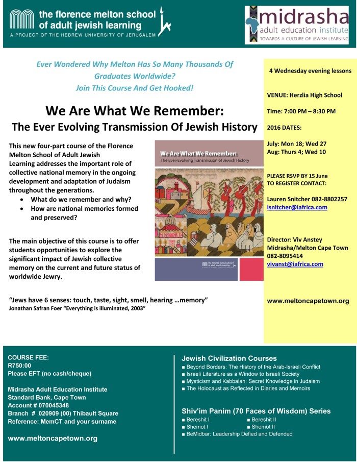 We Are What We Remember Flyer turq (4)2016