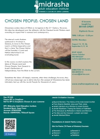 Chosen People Chosen Land Flyer 2019