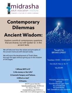 Microsoft PowerPoint - Contemporary Dilemmas Ancient Wisdom Oct